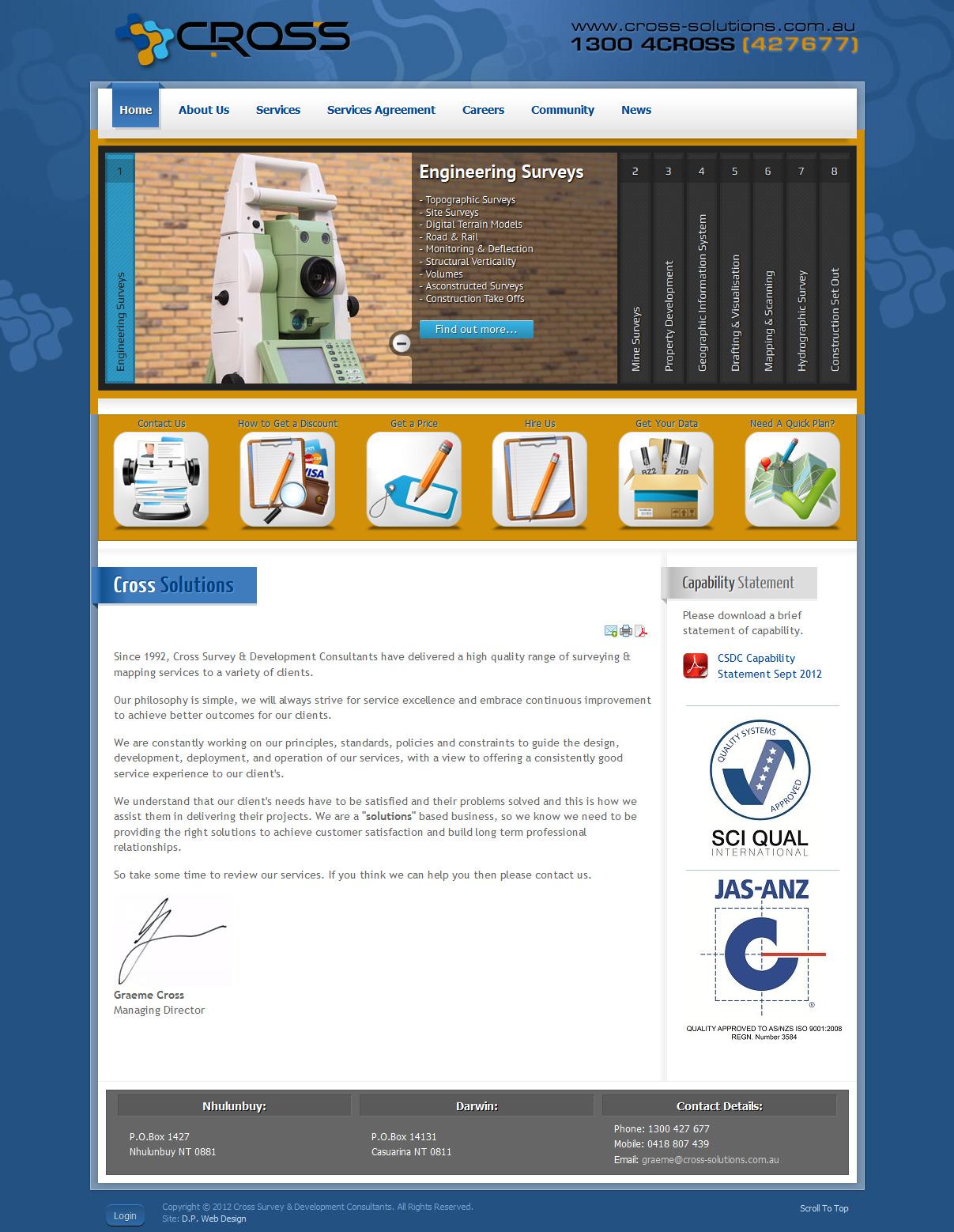 Cross survey development consultants d p web design for Web design consultant