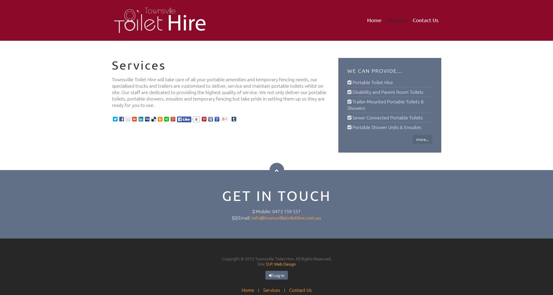 Townsville Toilet Hire - D.P. Web Design