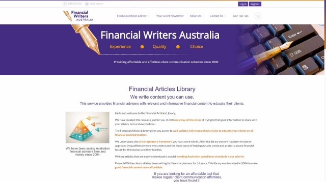 Financial Writers Australia